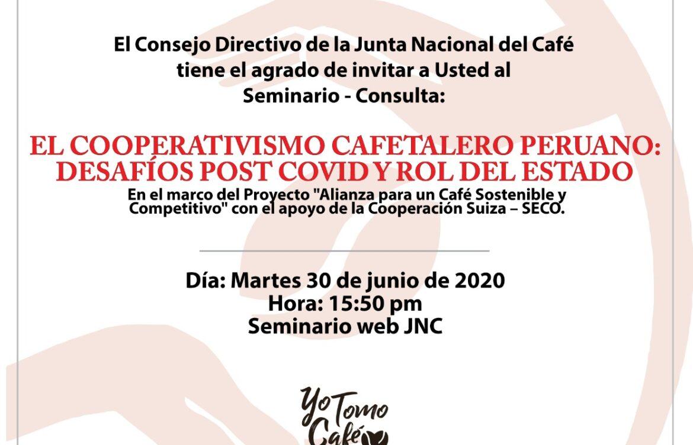 LA JNC REALIZO CONVERSATORIO SOBRE  CAFE Y PANDEMIA