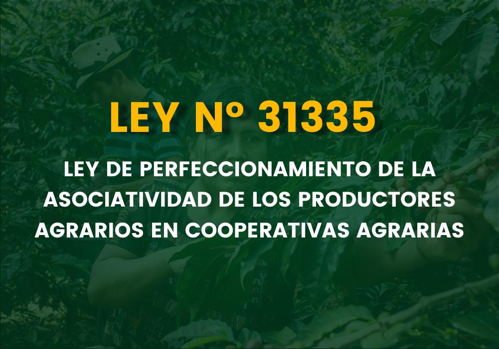 SE APRUEBA LA LEY 31335